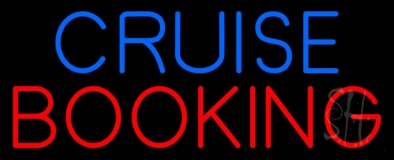 Blue Cruise Red Booking Neon Sign