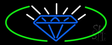 Blue Diamond Logo Neon Sign