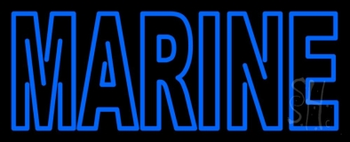Blue Marine Neon Sign