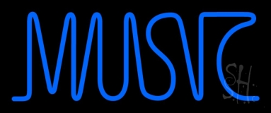 Blue Music Block 1 Neon Sign