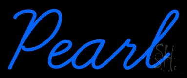 Blue Pearl Cursive Neon Sign