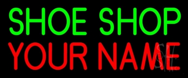 Custom Green Shoe Shop Block Neon Sign
