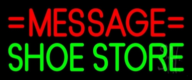 Custom Green Shoe Store Neon Sign