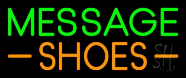 Custom Orange Shoes Neon Sign