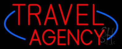 Deco Style Travel Agency Neon Sign