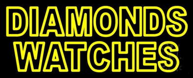 Diamonds Watches Neon Sign