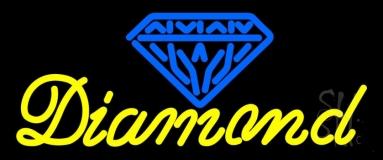 Diamond Yellow Blue Logo Neon Sign