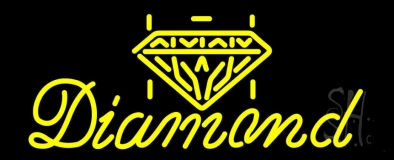 Diamond Yellow Neon Sign