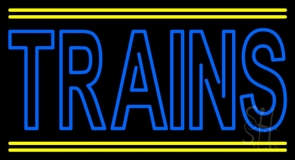 Double Stroke Trains Neon Sign