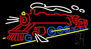 Electric Train Logo Neon Sign