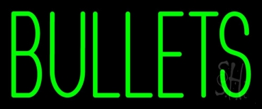 Green Bullets Neon Sign