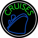 Green Cruises With White Border Neon Sign