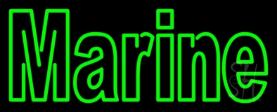 Green Marine Neon Sign