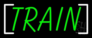 Green Train Neon Sign