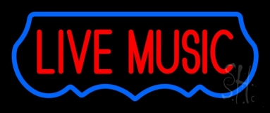 Live Music Red 2 Neon Sign