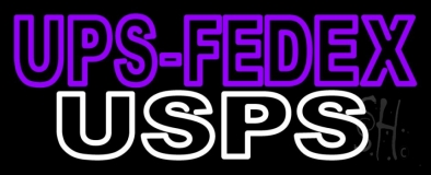 Purple Ups Fedex Usps Neon Sign