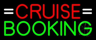 Red Cruise Green Booking Neon Sign