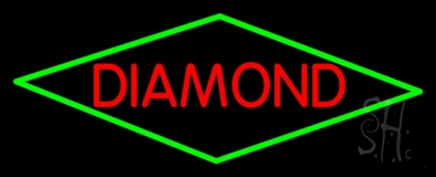 Red Diamond Block Neon Sign