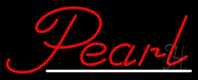 Red Pearl White Line Neon Sign