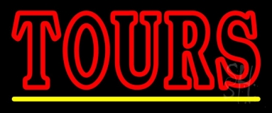 Double Stroke Red Tours With Line Neon Sign