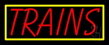 Red Trains Neon Sign