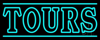 Tours With Lines Neon Sign