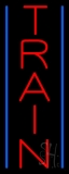 Vertical Train Neon Sign
