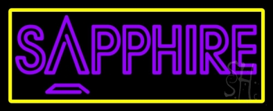 Yellow Border Sapphire Purple Neon Sign