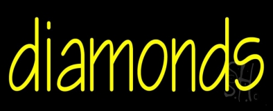 Yellow Diamond Neon Sign