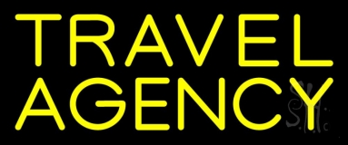 Yellow Travel Agency Neon Sign