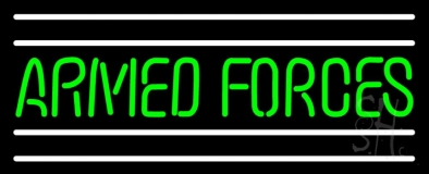 Armed Forces Neon Sign