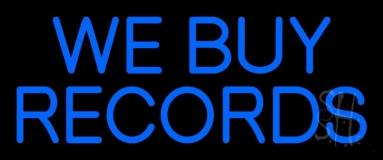 Blue We Buy Records 2 Neon Sign