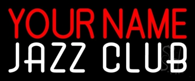 Custom White Jazz Club Neon Sign