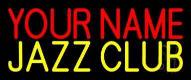 Custom Yellow Jazz Club Block Neon Sign