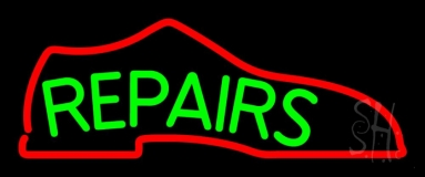 Green Repair Shoe Neon Sign