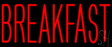 Red Breakfast Block Neon Sign