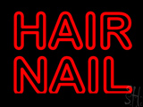 Red Double Stroke Hair Nail Neon Sign