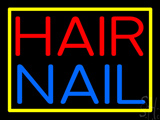 Hair Nail Yellow Border Neon Sign