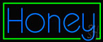 Green Border Honey Neon Sign