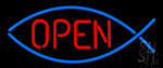 Open With Fish Neon Sign