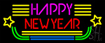 Happy New Year Logo 2 Neon Sign