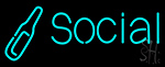 Social Bottle Neon Sign