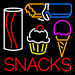 Board Snacks Ice Cream Real Glass Tube Bar Neon Sign
