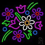 Flowers Logo Neon Sign