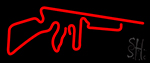 Red Gun Logo Neon Sign