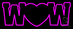 Wow With Heart Neon Sign