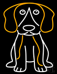 Beagle Dog Neon Sign