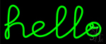 Green Hello Neon Sign
