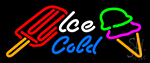 Ice Cold Treats Neon Sign