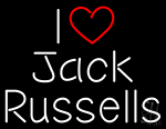 I Jack Russells Neon Sign